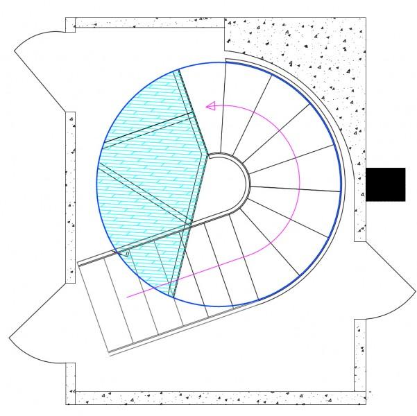 Design Scala disegno : ... scala, garantendo cos? l?accesso alla terza camera della zona notte