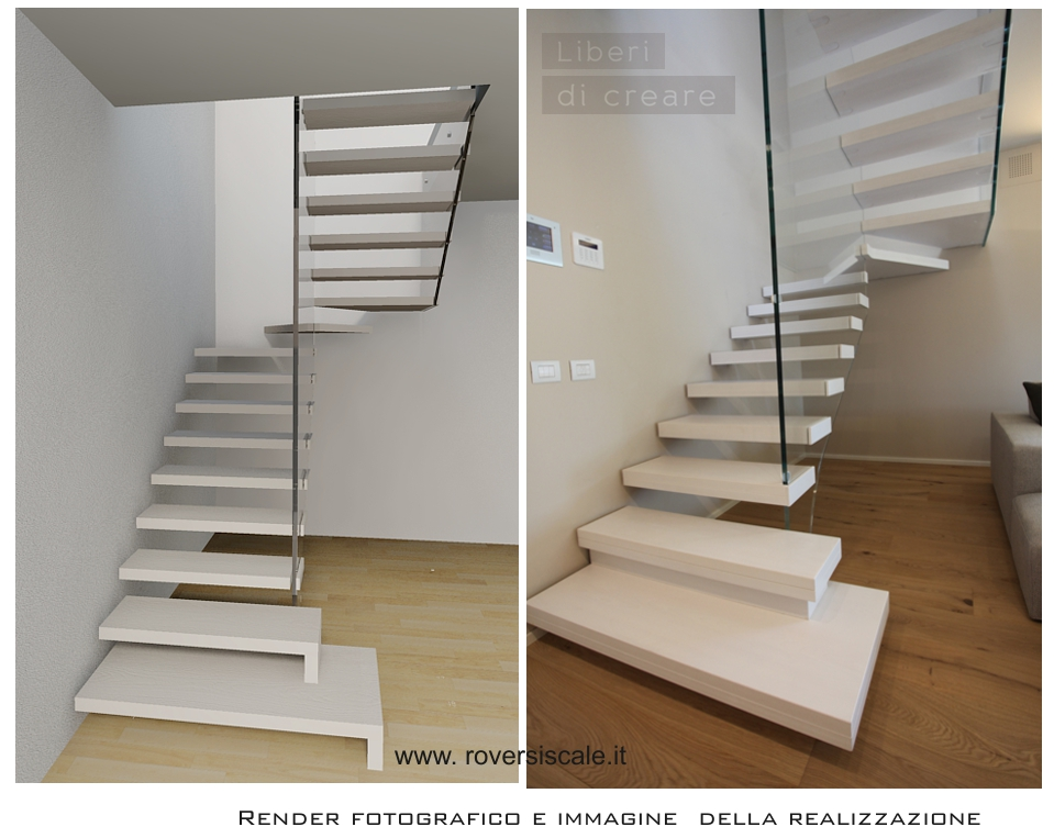 Alcuni esempi di scale Custom Made realizzate da Roversi