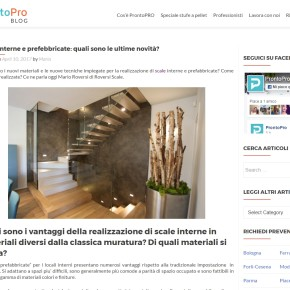Le scale da interno...parliamone sul portale ProntoPro