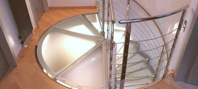 Progetto di scala a giorno elicoidale