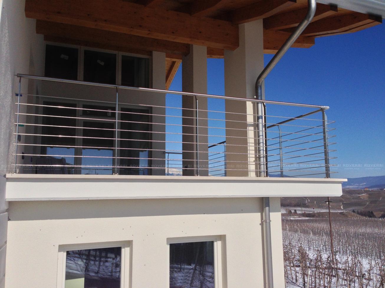 Ringhiera balcone esterno acciaio inox val di non il for Infissi balcone